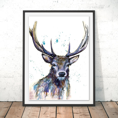 Splatter Hart Original Print by Katherine Williams