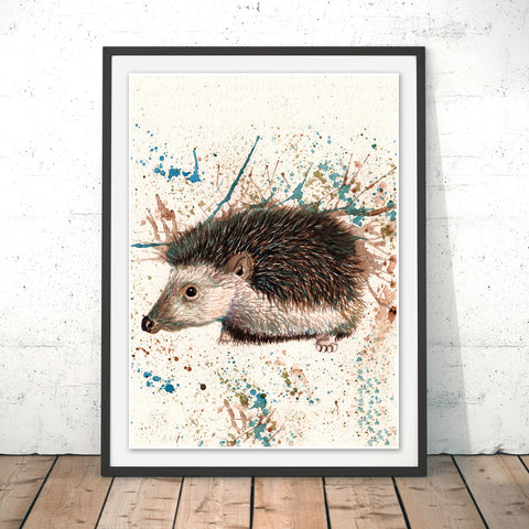 Splatter Hedgehog Original Print by Katherine Williams