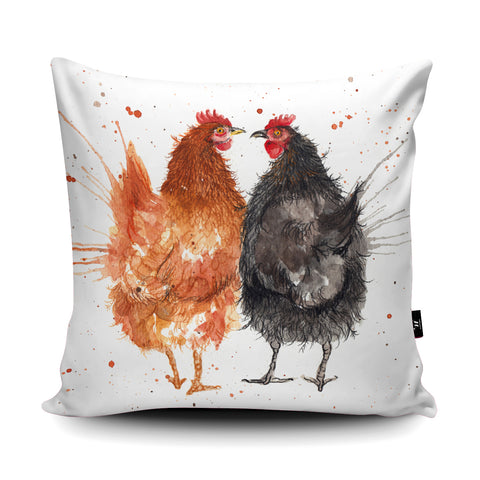 Splatter Hens Cushion by Katherine Williams