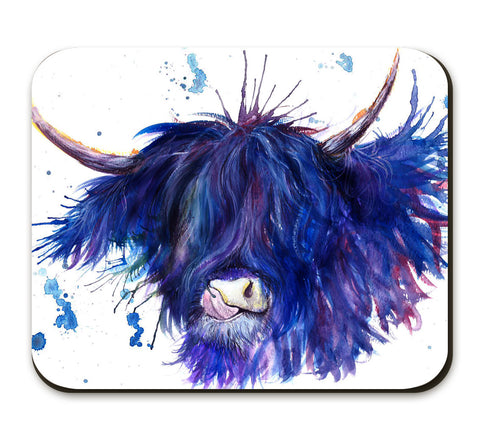Splatter Highland Cow Placemat by Katherine Williams