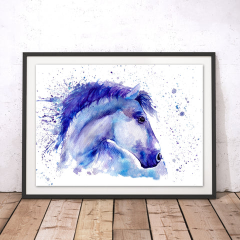 Splatter Horse Original Print by Katherine Williams