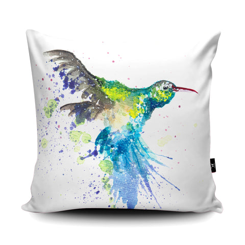 Splatter Hummingbird Cushion by Katherine Williams