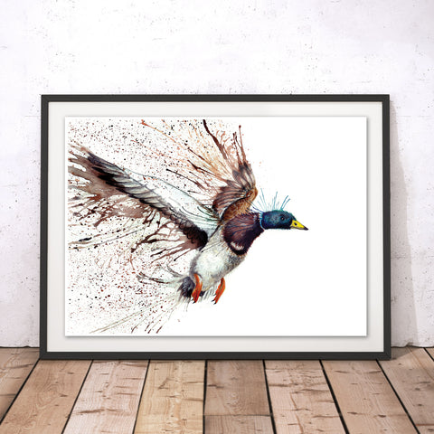 Splatter Mallard Original Print by Katherine Williams