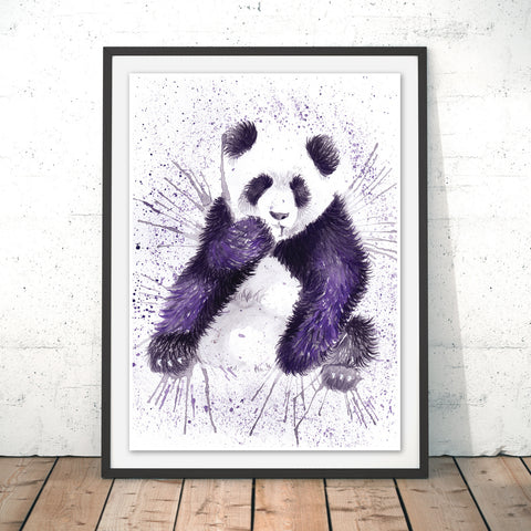 Splatter Panda Original Print by Katherine Williams