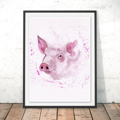 Splatter Pig Original Print by Katherine Williams