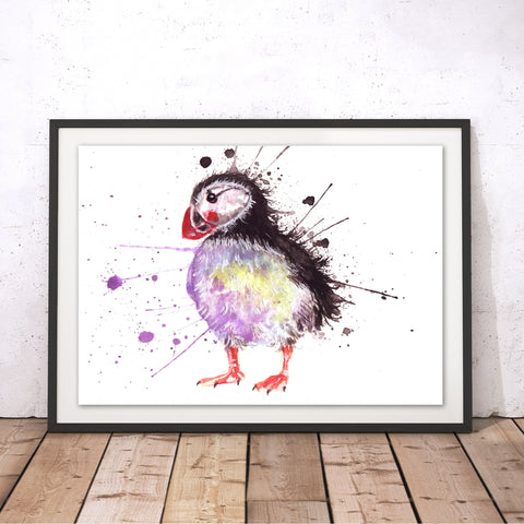 Splatter Puffin Original Print by Katherine Williams