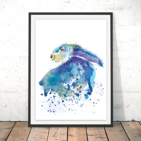 Splatter Rabbit Original Print by Katherine Williams