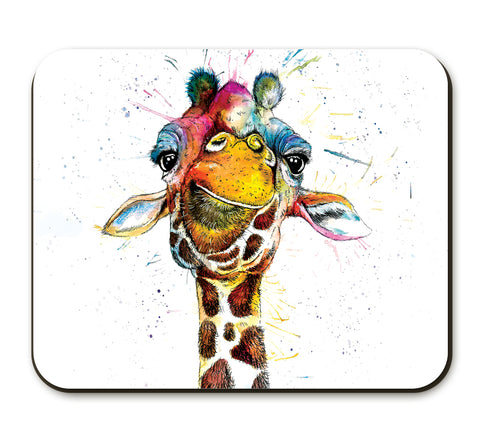 Splatter Rainbow Giraffe Placemat by Katherine Williams