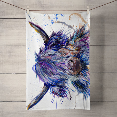 Splatter Scruffy Coo Tea Towel by Katherine Williams