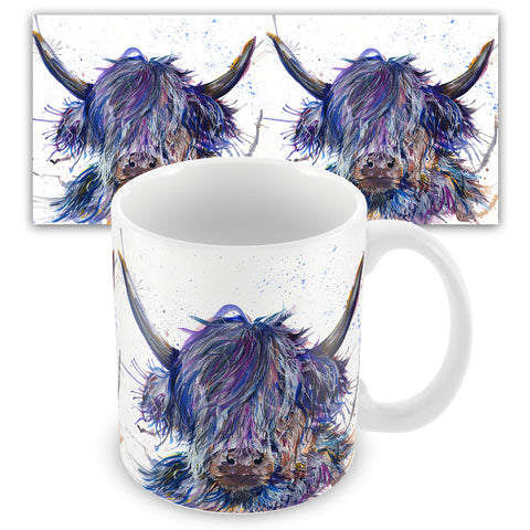 Splatter Scruffy Coo Ceramic Mug by Katherine Williams