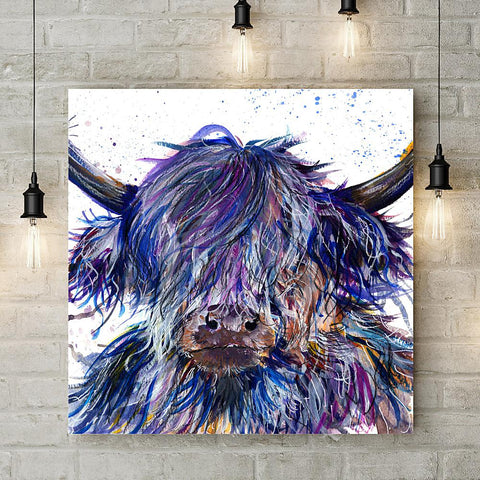 Splatter Scruffy Coo Clock by Katherine Williams