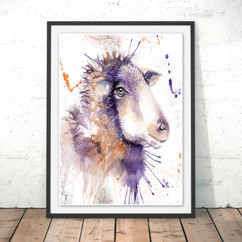 Splatter Sheep Original Print by Katherine Williams