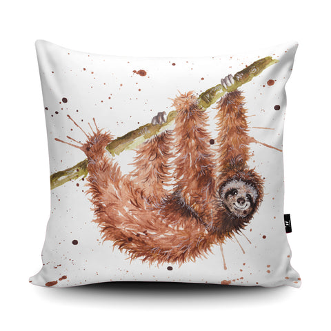Splatter Sloth Cushion by Katherine Williams