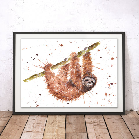 Splatter Sloth Original Print by Katherine Williams