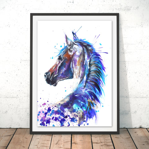 Splatter Stallion Original Print by Katherine Williams