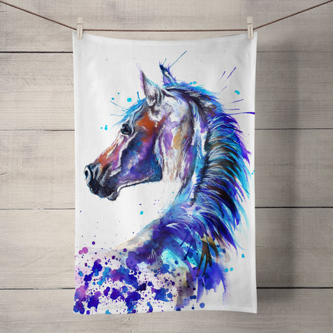Splatter Stallion Tea Towel by Katherine Williams