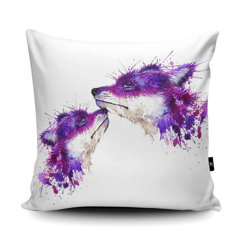 Splatter Sweet Kisses Cushion by Katherine Williams