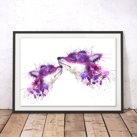 Splatter Sweet Kisses Original Print by Katherine Williams