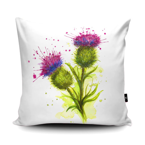 Splatter Thistle Cushion by Katherine Williams