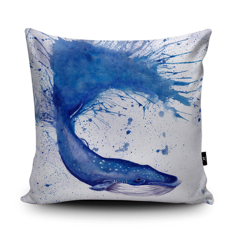 Splatter Whale Cushion by Katherine Williams