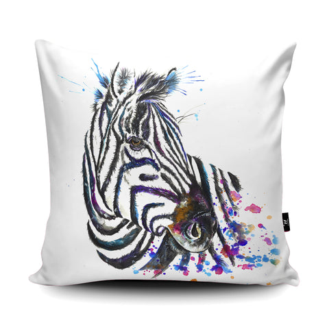 Splatter Zebra Cushion by Katherine Williams
