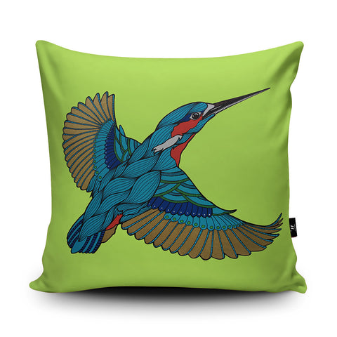 Kingfisher Cushion by Paul Robbins