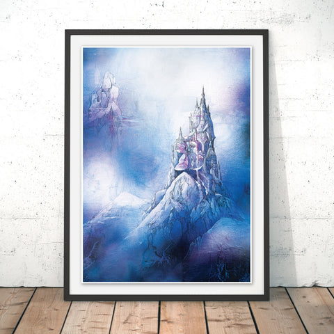 Spire in the Mist Original Print by Lee Vincent