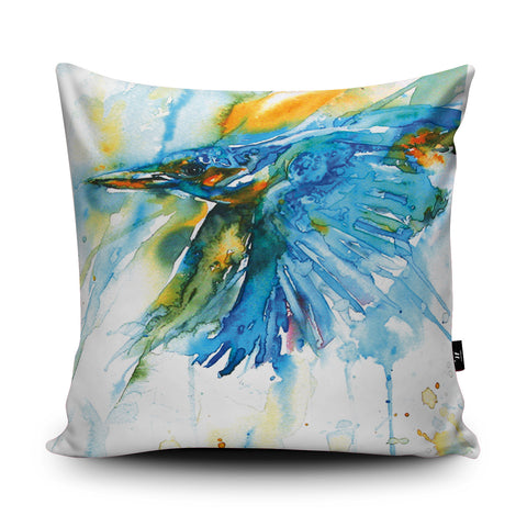 As Kingfishers Catch Fire Cushion by Liz Chaderton