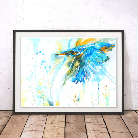 As Kingfishers Catch Fire Original Print by Liz Chaderton