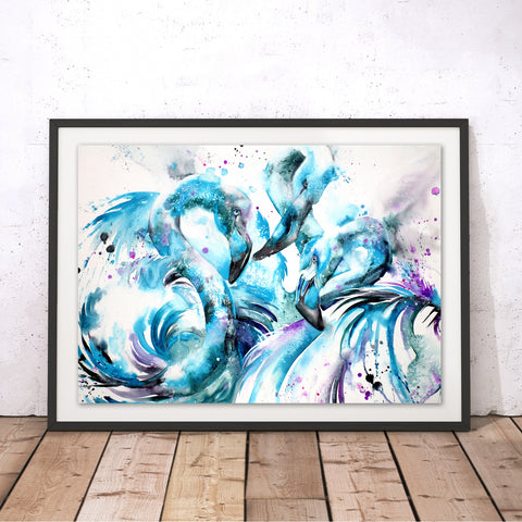 Blue Twist Original Print by Liz Chaderton