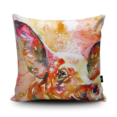 Curious Pig Cushion by Liz Chaderton