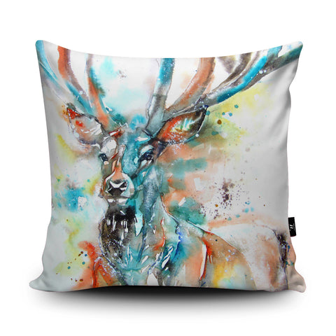 Monarch of the Glen Cushion by Liz Chaderton
