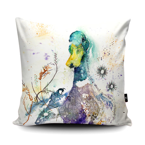 Quackers Cushion by Liz Chaderton