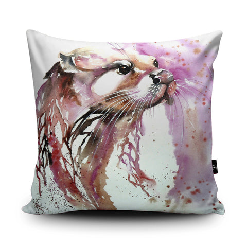 Queen Otter Cushion by Liz Chaderton