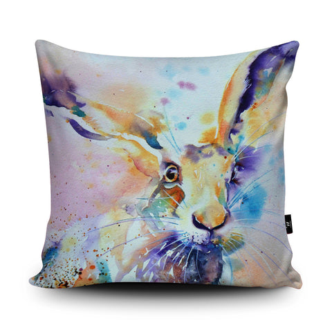 Spring Hare Cushion by Liz Chaderton