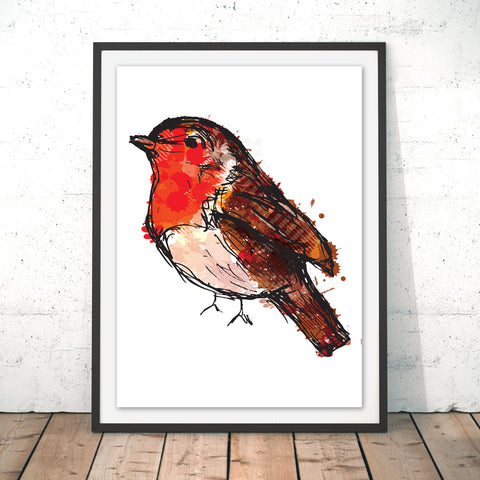 Robin Original Print by Louise Whitmore
