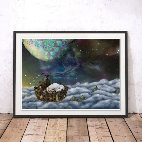 Scoresby's Balloon Original Print by Lyndsey Green