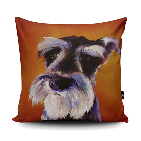 Don't Give Me Those Eyes Cushion by Adam Barsby