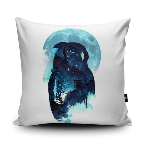 Midnight Owl Cushion by Robert Farkas