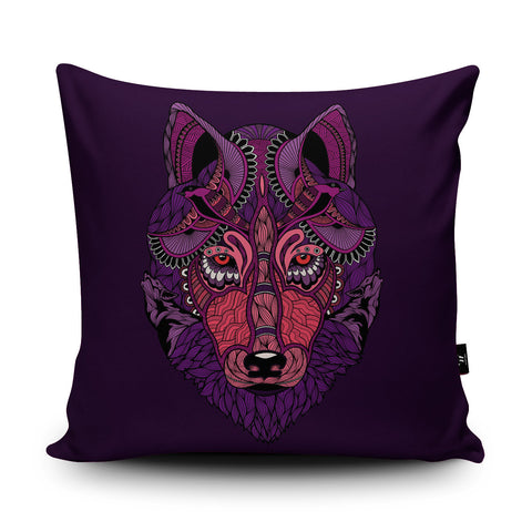 Mystic Wolf Cushion by Paul Robbins