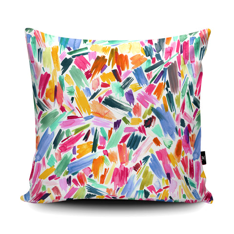 Artsy Abstract Strokes Cushion by Ninola Design