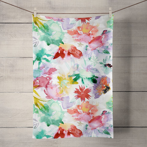 Big Blooms Tea Towel by Ninola Design