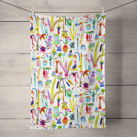 Lush Garden Tea Towel by Ninola Design