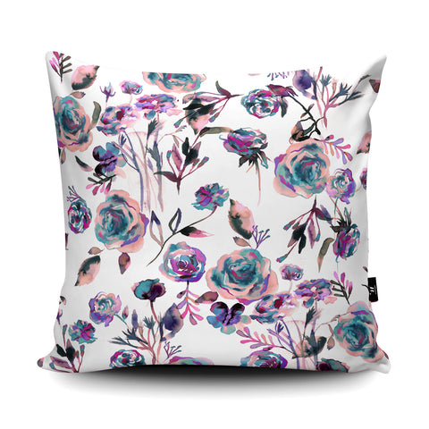 Roses Bouquet Mauve Cushion by Ninola Design