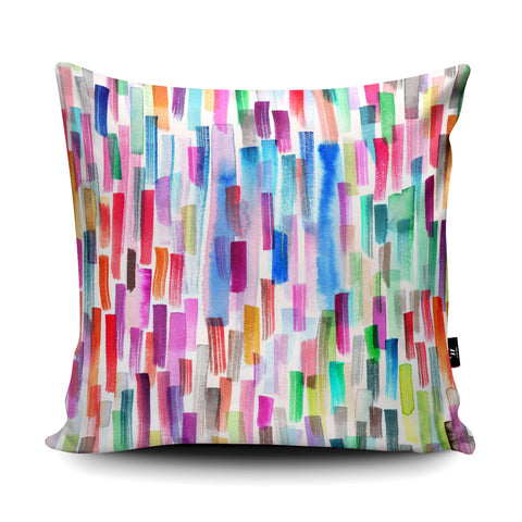 Brushstrokes White Cushion by Ninola Design