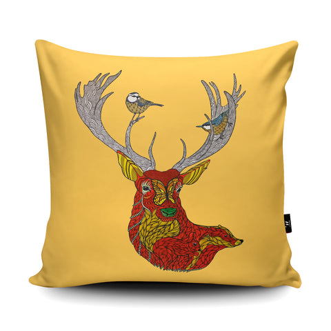 Autumn Woodland Cushion by Paul Robbins