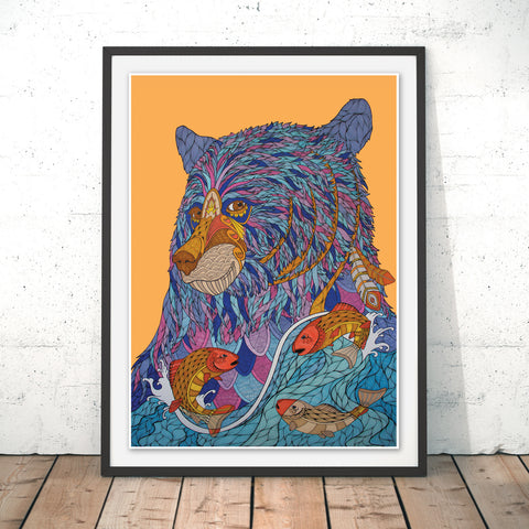 Bear Original Print by Paul Robbins