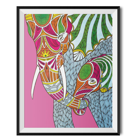 Elephants Original Print by Paul Robbins