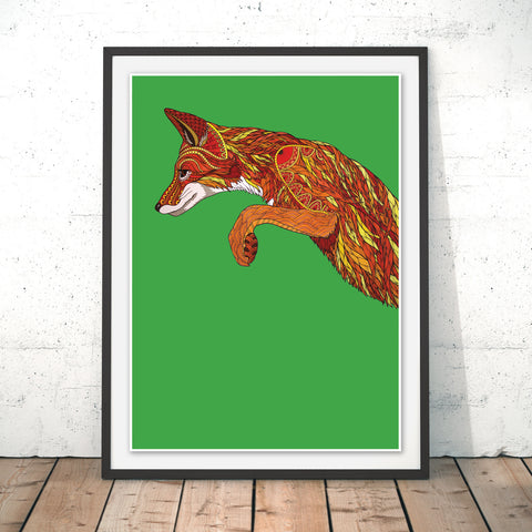 Fox Pounce Original Print by Paul Robbins