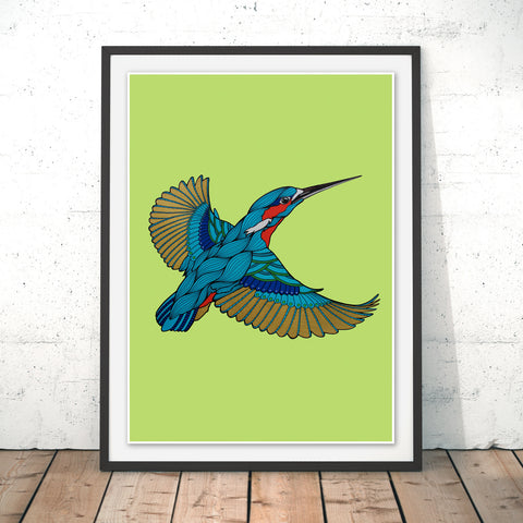 Kingfisher Original Print by Paul Robbins